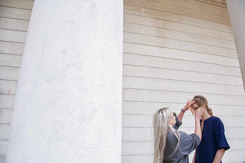 alyssa nicole, behind the scenes, couture, fashion film, photo shoot, styling, alyssa nicole fall 2014, metallic coat, black evening gown, black wedding dress, wool kimono, kimono gown, blue kimono, bell sleeve dress, metallic dress, aline dress,