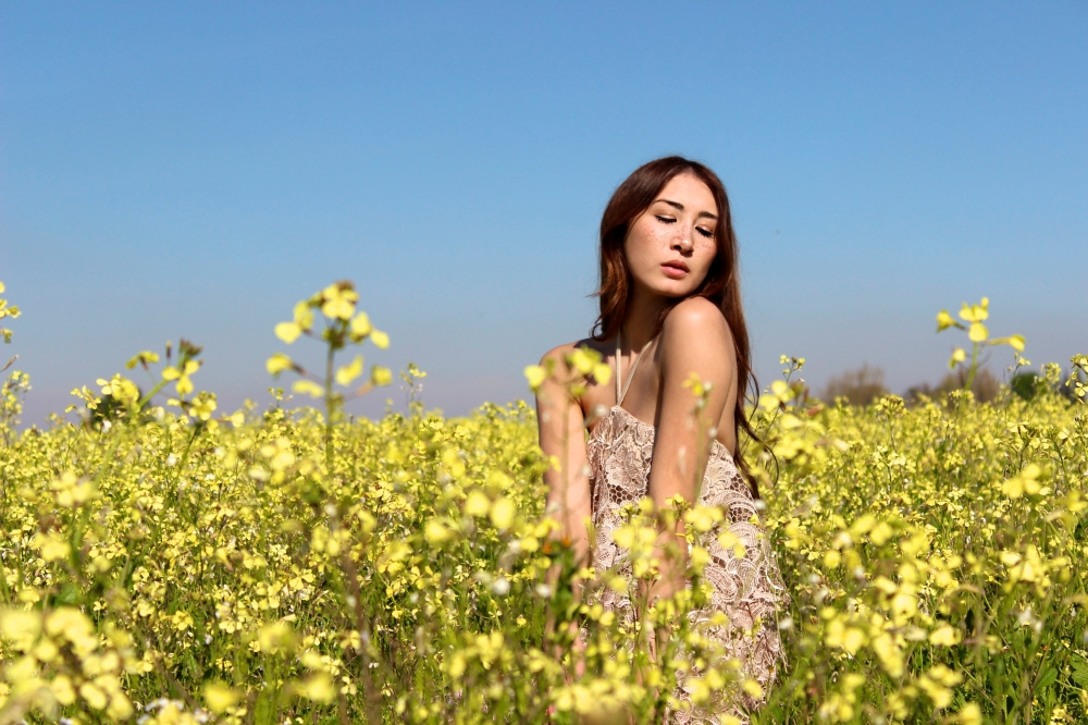 Among the Wildflowers Alyssa Nicole Lace Halter Dress