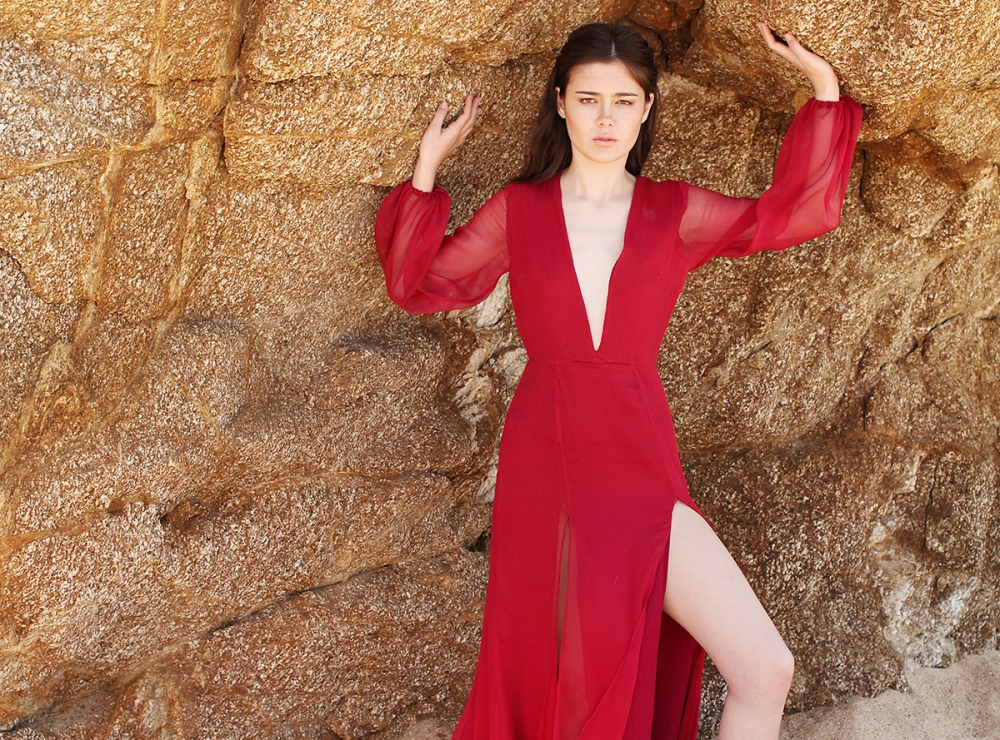 Alyssa Nicole Fall 2015 First Look Red Gown