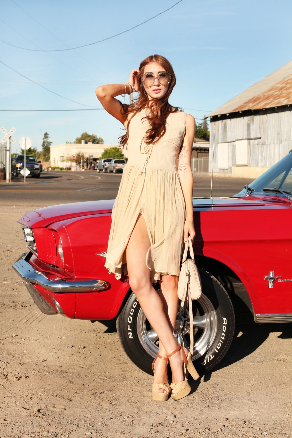Shift Into Neutral Alyssa Nicole Silk Bowtie Dress 3