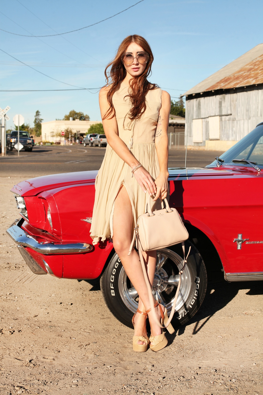Shift Into Neutral Alyssa Nicole Silk Bowtie Dress 4