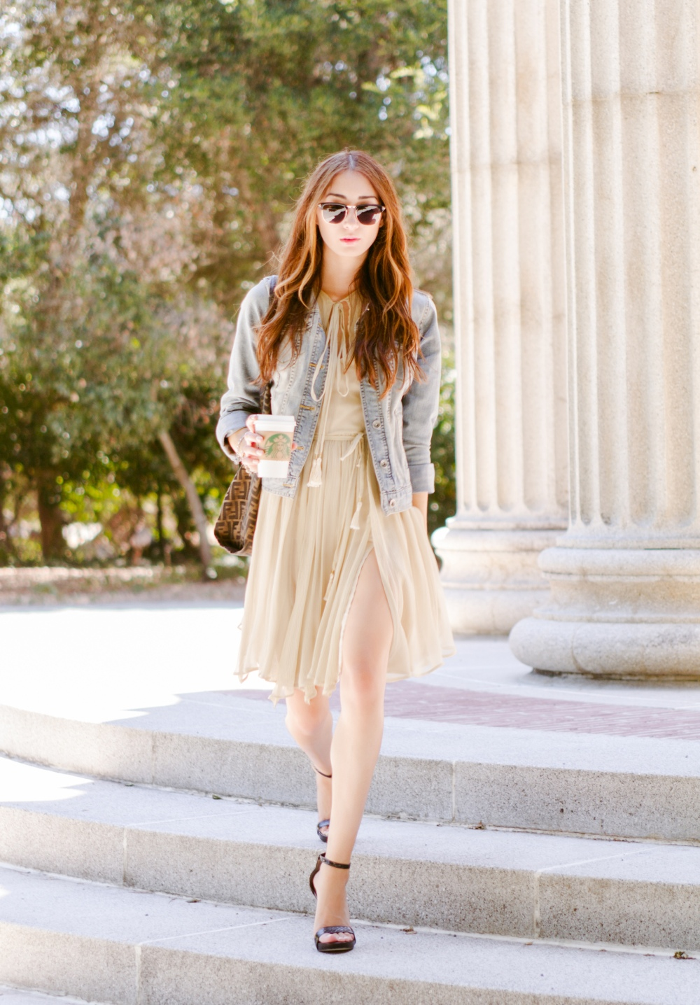 Easy Breezy in Alyssa Nicole Dress and Tom Ford Sunglasses
