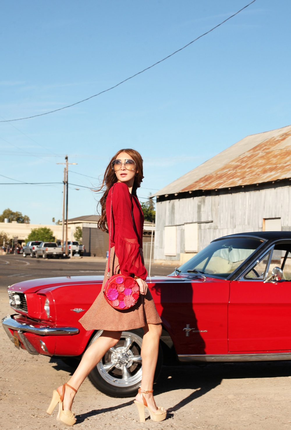 On The Road Alyssa Nicole Red Blouse 2