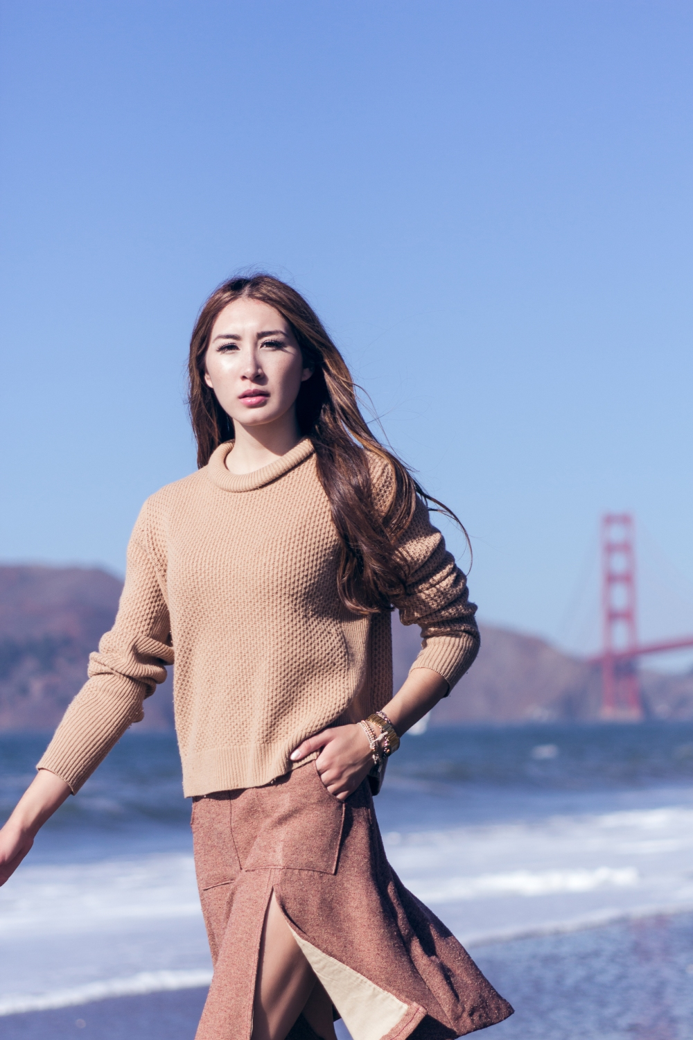 California Winter Golden Gate Bridge Alyssa Nicole Aline Skirt 2