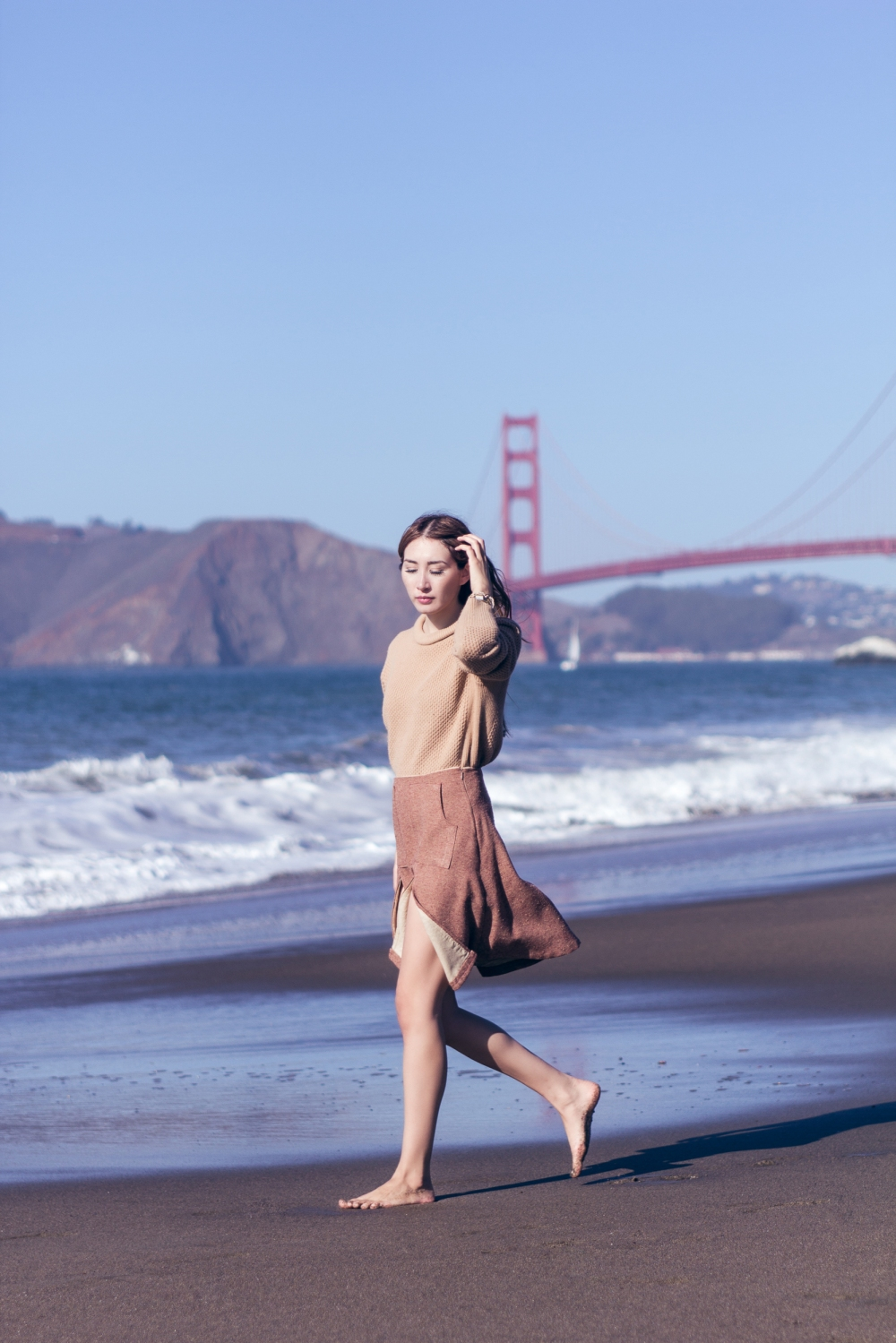 California Winter Golden Gate Bridge Alyssa Nicole Aline Skirt 3