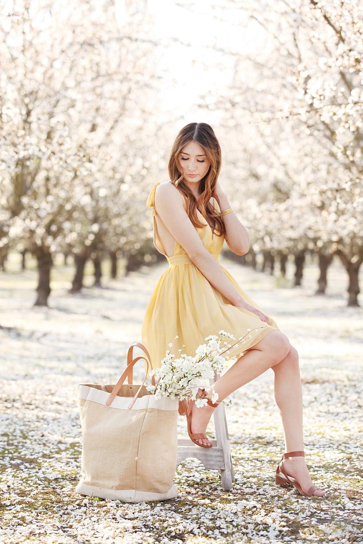 In Bloom Alyssa Nicole SS16 Yellow Silk Jane Dress 1