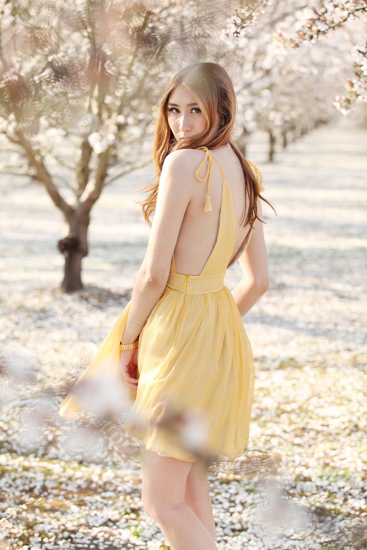 In Bloom Alyssa Nicole SS16 Yellow Silk Jane Dress 6