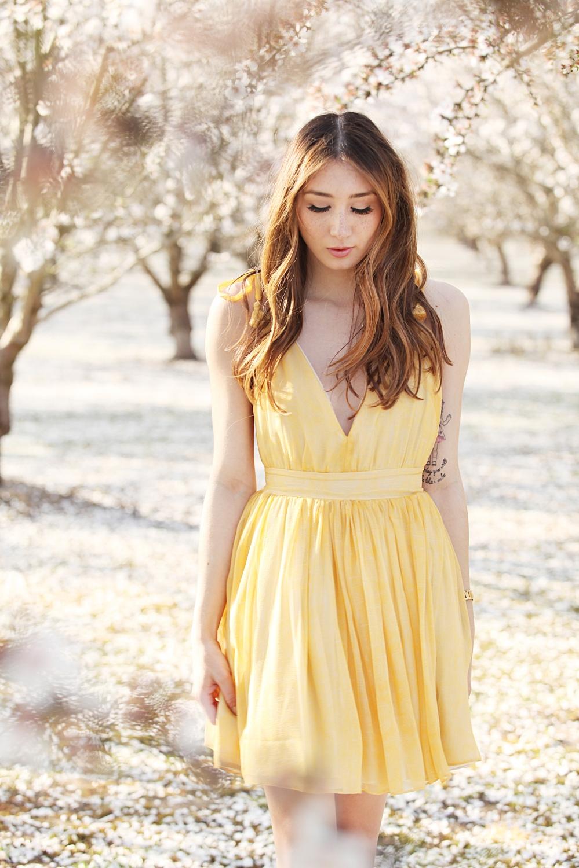 In Bloom Alyssa Nicole SS16 Yellow Silk Jane Dress 7