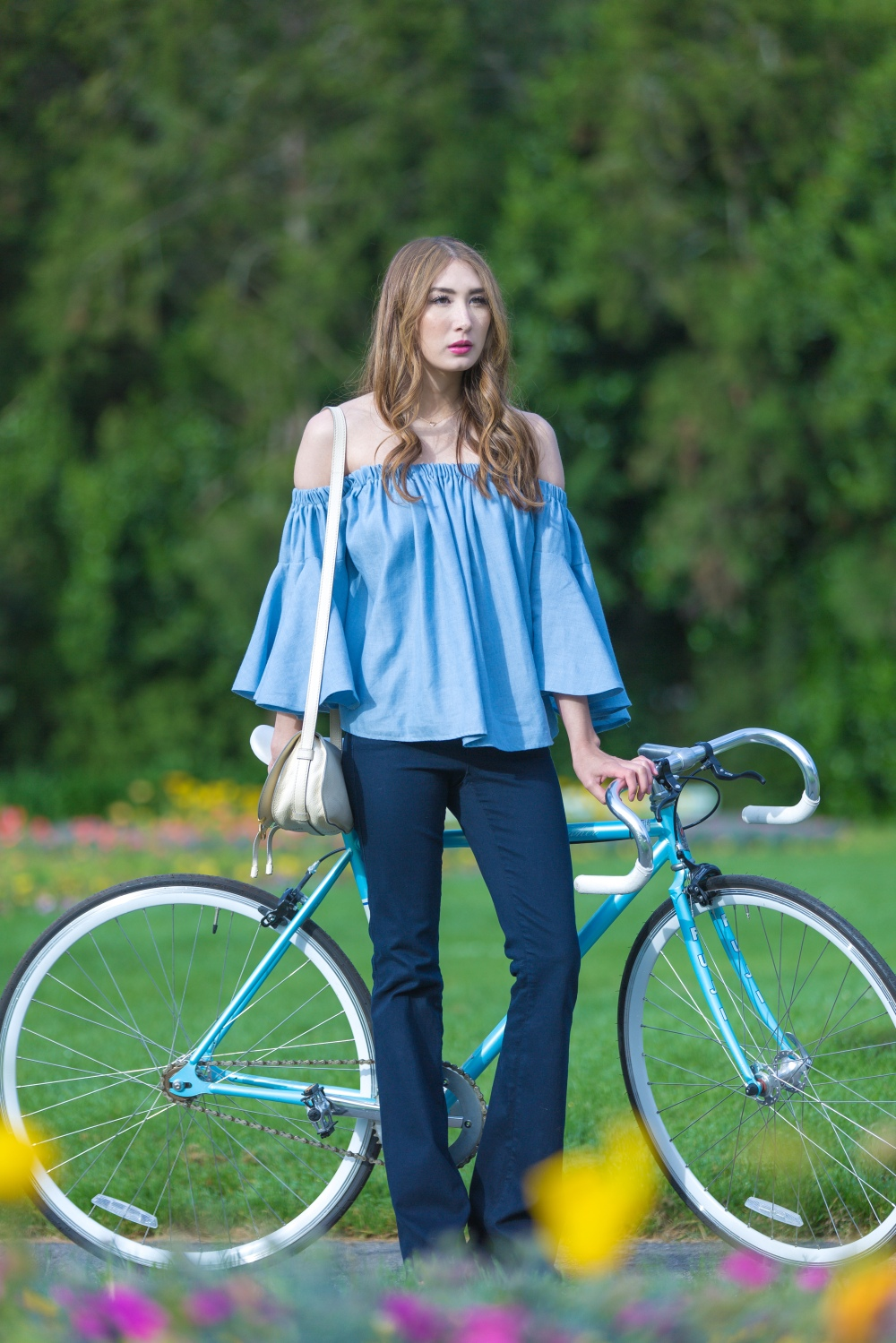 Alyssa Nicole Bridget Blouse Biking In San Francisco Golden Gate Park 4