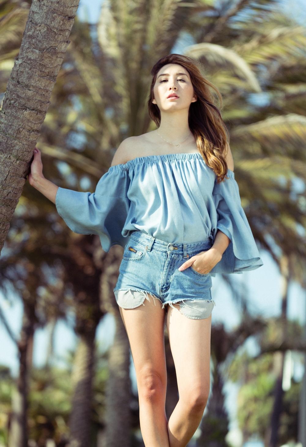 Alyssa Nicole Santa Monica Beach 2