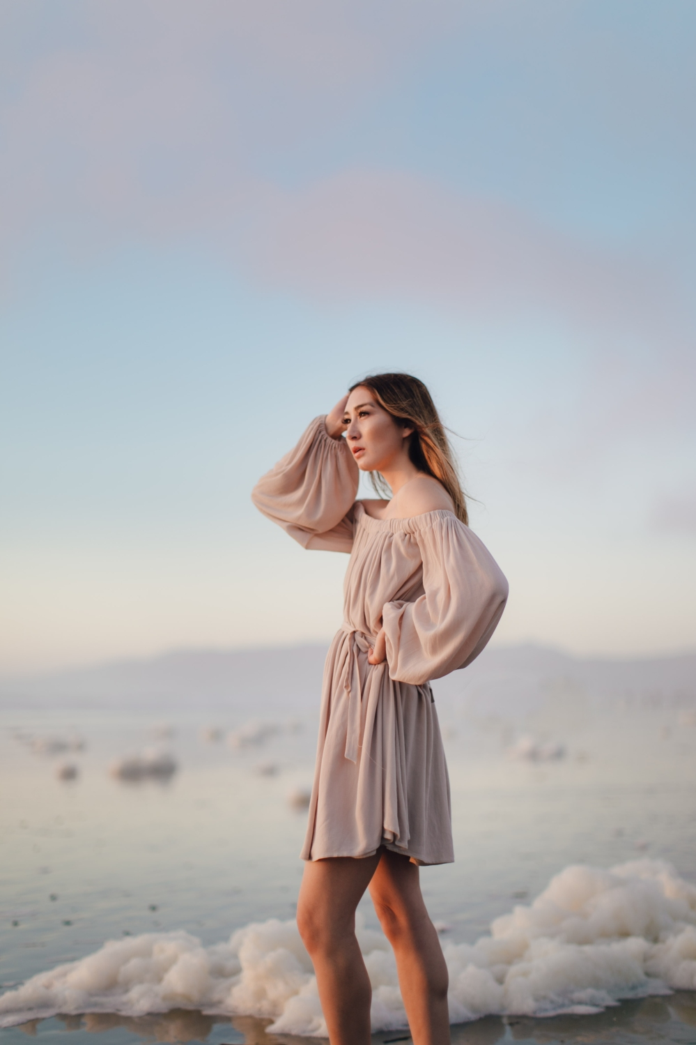 clouded-alyssa-nicole-hannah-dress-ocean-beach-2