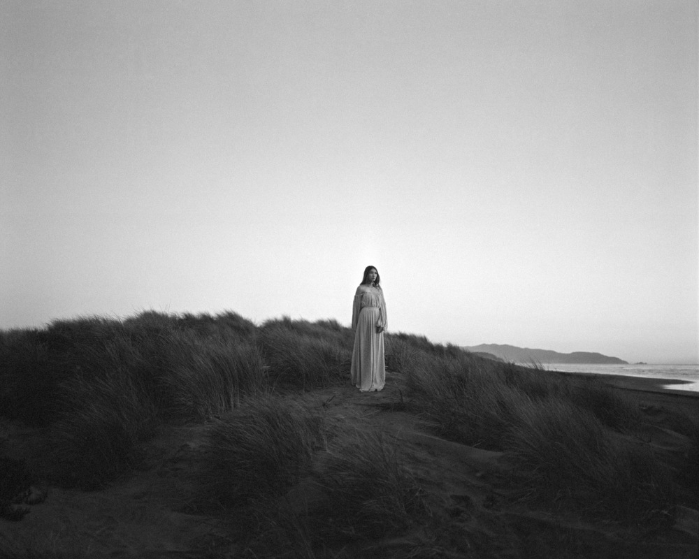 Alyssa Nicole Black and White Film Fashion Photography Ocean Beach 2