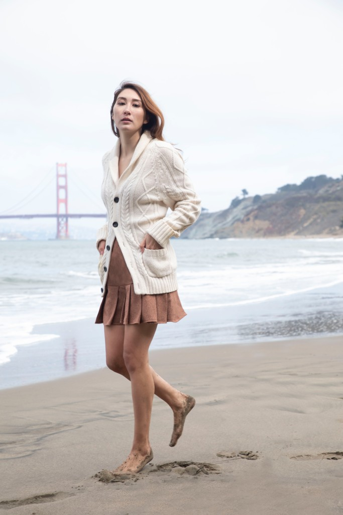 Pleated Skirt by Alyssa Nicole. Designed in San Francisco